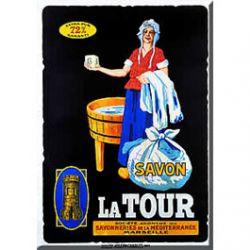 Carte Métal Savon La Tour 15x21 cm