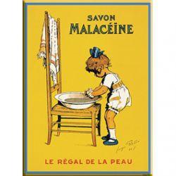 Carte Métal Savon Malacéïne 15x21 cm