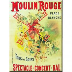Carte Métal Moulin Rouge 15x21 cm