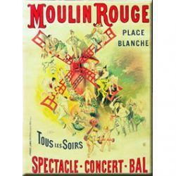 Carte Métal Moulin Rouge 15x21 cm