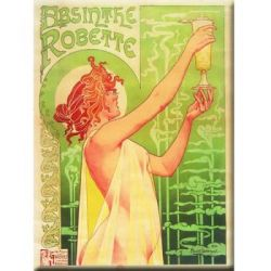 Plaque Mtal Absinthe Robette 30x40 cm