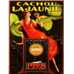 Carte Métal Cachou Lajaunie 15x21 cm