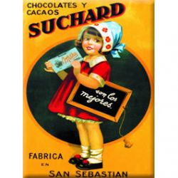 Carte Mtal Suchard Milka 15x21 cm