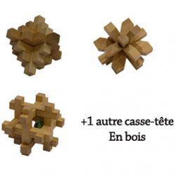 4 casse-ttes en Bois