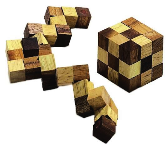 Casse T u00eate Serpent Cube en bois avec solution # Solution Casse Tete En Bois