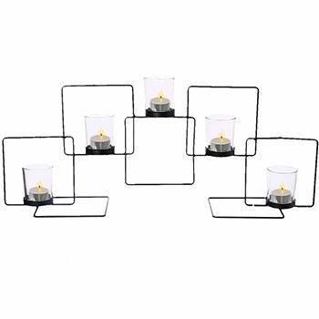 Grand Centre de Table Métal avec 5 Lumignons