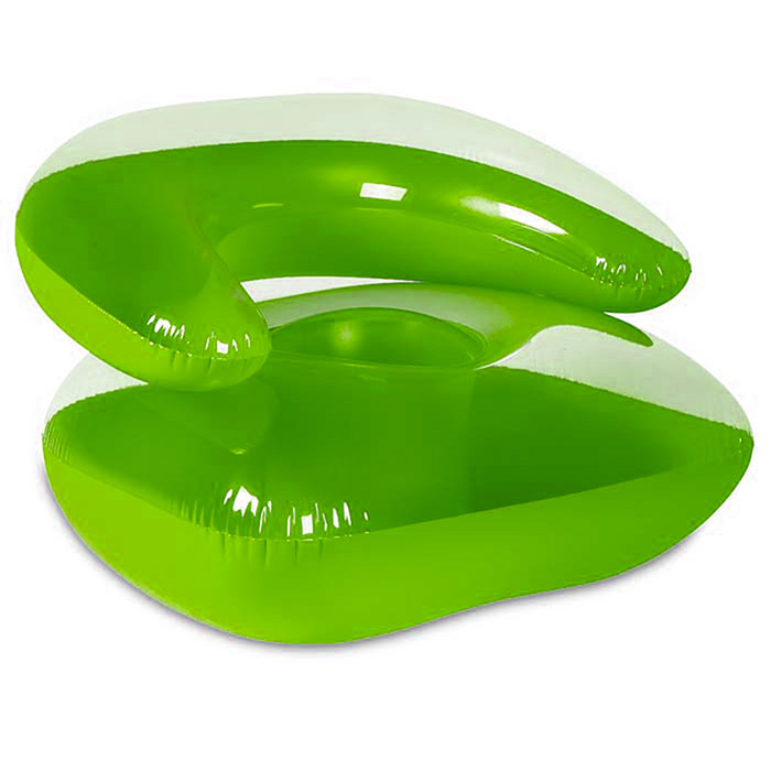 Fauteuil chaise gonflable enfant assise confortable vert for Chaise gonflable