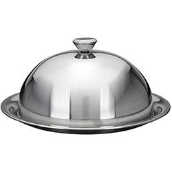 Cloche Couvre Assiette Maitre d'Hotel Inox avec assiette