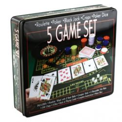 Coffret 5 Jeux (Roulette, Poker, Black Jack, Craps, Poker Ride)