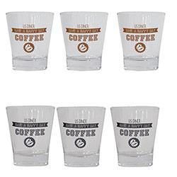 Coffret 6 Tasses à Café avec Boîte en Métal