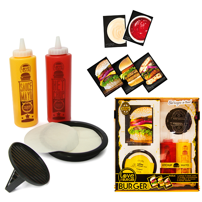 Coffret burger pour r aliser de d licieux burgers maison for Coffret couture avec accessoires