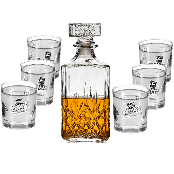 service whisky avec carafe et 6 verres. Black Bedroom Furniture Sets. Home Design Ideas