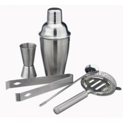 Coffret Cocktail Inox avec Shaker et Accessoires