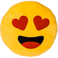 Coussin Emoji Coeurs