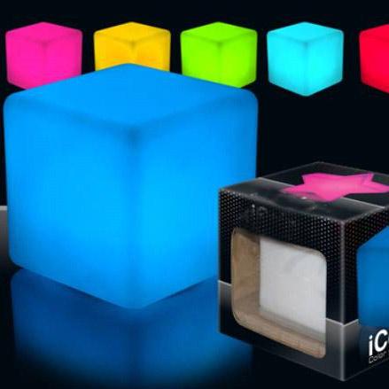 cube lumineux qui change de couleur. Black Bedroom Furniture Sets. Home Design Ideas