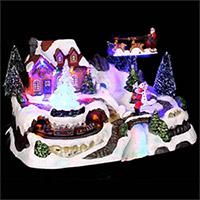 Village de Noël Lumineux Père Noël