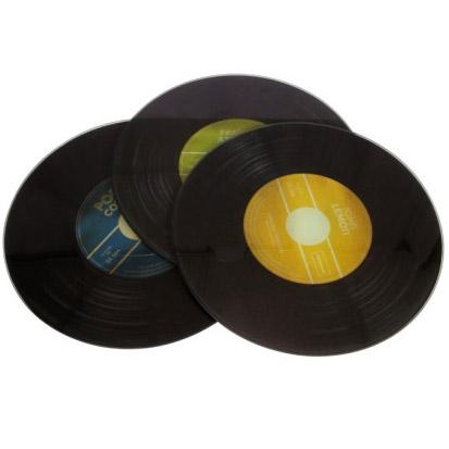 Dessous de plat design disque vinyle - Dessous de verre vinyle ...