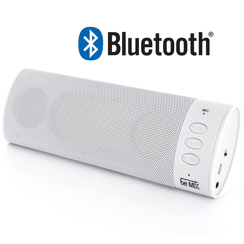 enceinte portable bluetooth blanche avec kit main libre. Black Bedroom Furniture Sets. Home Design Ideas