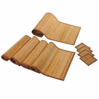 ensemble bambou avec set de table bambou chemin de table en bambou. Black Bedroom Furniture Sets. Home Design Ideas