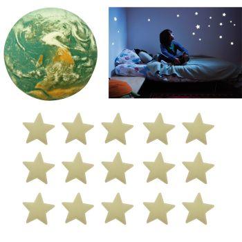 Planète en Relief avec 15 étoiles phosphorescentes