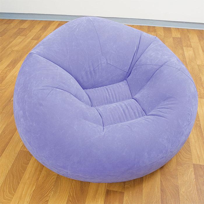 pouf gonflable fauteuil disponible en vert violet rose. Black Bedroom Furniture Sets. Home Design Ideas