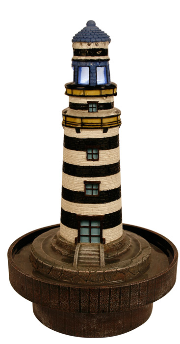 Fontaine d corative lumineuse phare breton for Phare decoratif pour jardin