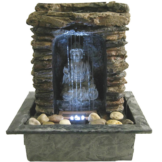 Fontaine d corative d 39 int rieur bouddha m ditation ebay for Fontaine japonaise d interieur