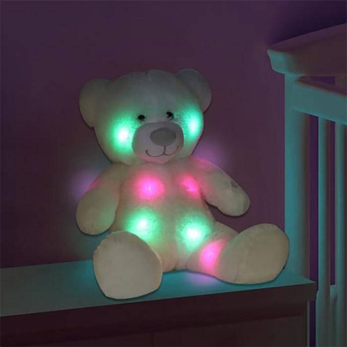 grand ours en peluche lumineux qui change de couleur. Black Bedroom Furniture Sets. Home Design Ideas