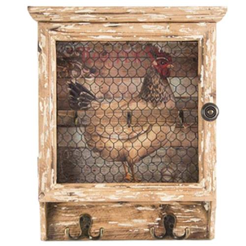 armoire boite cl s xxl en bois et m tal design coq. Black Bedroom Furniture Sets. Home Design Ideas
