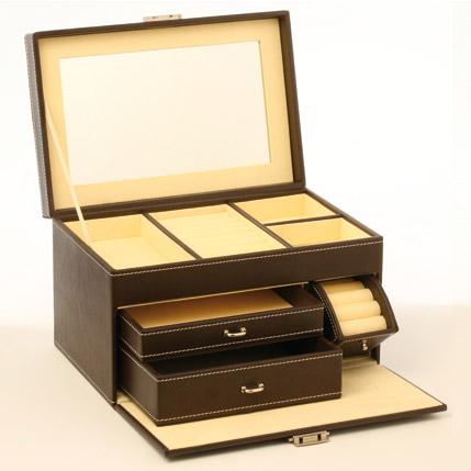grande bo te bijoux simili cuir luxe. Black Bedroom Furniture Sets. Home Design Ideas