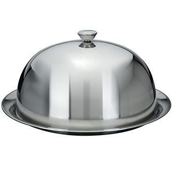Cloche couvre assiette fa on maitre d 39 hotel assiette en inox - Cloche de cuisine ...