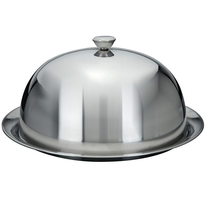 Cloche couvre assiette maitre d 39 hotel assiette inox - Plat familial pas cher ...