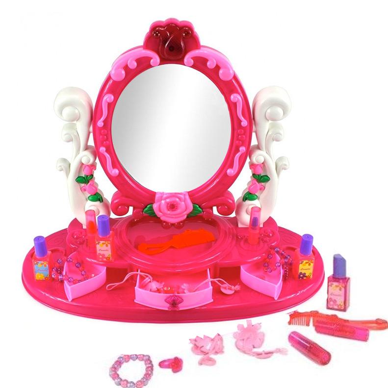 coiffeuse enfant fille avec miroir et accessoires de beaut. Black Bedroom Furniture Sets. Home Design Ideas