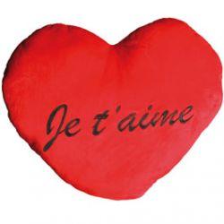 """Coussin Coeur XXL """"Je t'aime"""" 60 cm"""