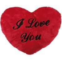 """Coussin Coeur """"I Love You"""" 35 cm"""