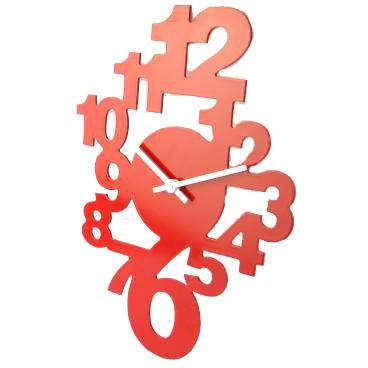 Horloge murale design avec chiffres for Horloge murale design rouge
