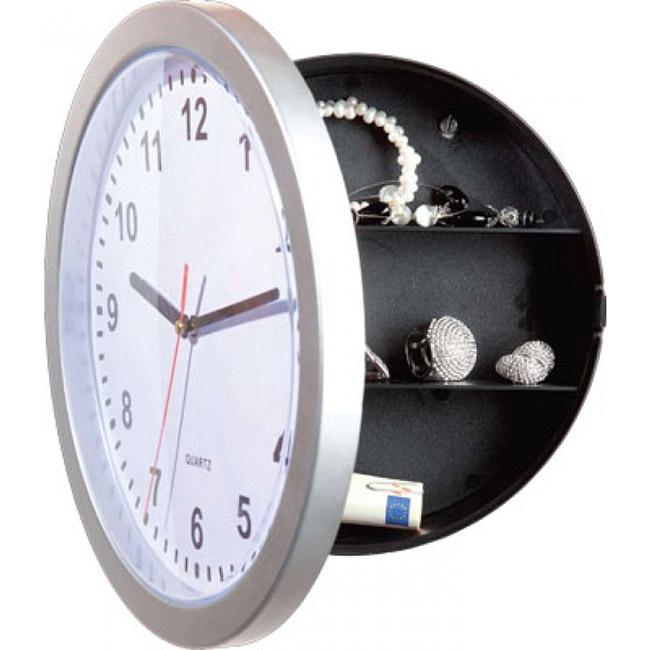 horloge coffre fort avec compartiments secrets pour argent bijoux. Black Bedroom Furniture Sets. Home Design Ideas