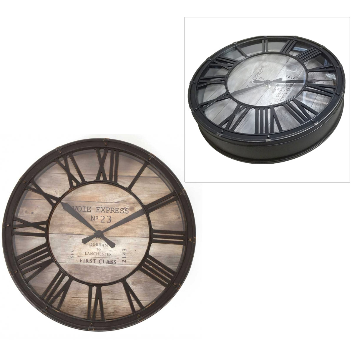 pendule horloge style horloge de gare. Black Bedroom Furniture Sets. Home Design Ideas