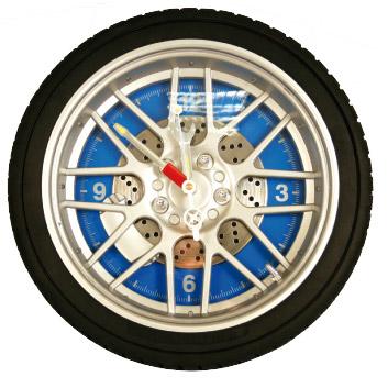 Horloge roue de voiture lumineuse avec lumi re rouge bleu for Horloge lumineuse