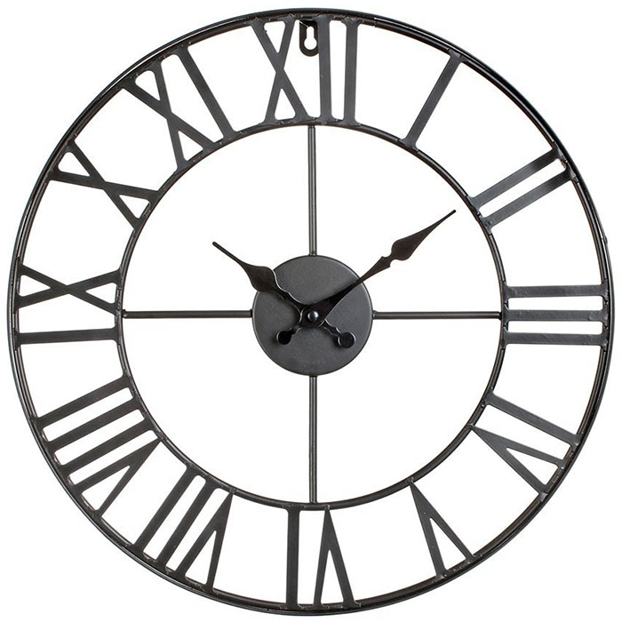 horloge murale design vintage en m tal 40 cm. Black Bedroom Furniture Sets. Home Design Ideas