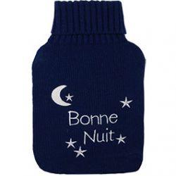 """Bouillotte Bleue avec écrit """"bonne nuit"""""""