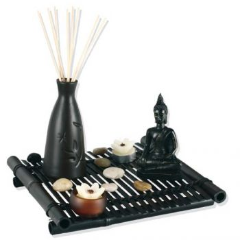 jardin zen bambou avec bouddha. Black Bedroom Furniture Sets. Home Design Ideas