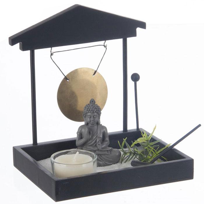 Jardin zen bouddha bouddha avec plateau sable bouddha for Deco jardin zen bouddha
