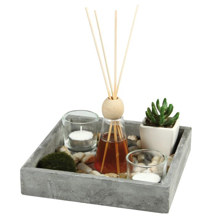 jardin zen avec diffuseur de parfum. Black Bedroom Furniture Sets. Home Design Ideas