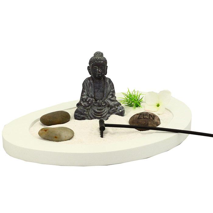 jardin zen bouddha oval en forme de galet. Black Bedroom Furniture Sets. Home Design Ideas