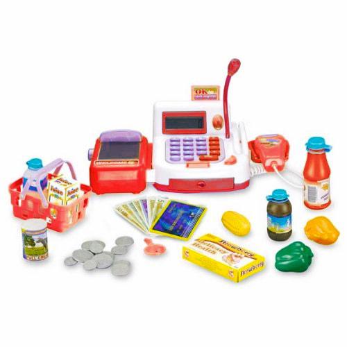 jeu enfant jouet caisse enregistreuse shopping nombreux accessoires. Black Bedroom Furniture Sets. Home Design Ideas