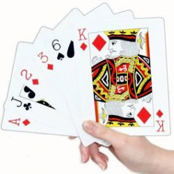 Jeu de Cartes Gant 15cm