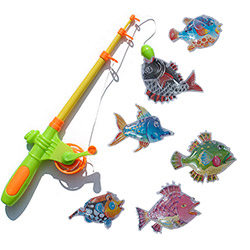 Jeu Pêche à la Ligne Magnétique avec 6 Poissons