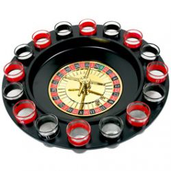 Jeu de Roulette  Boire Casino avec 16 verres