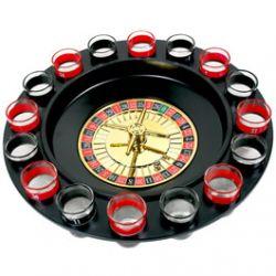 Jeu de Roulette à Boire Casino avec 16 verres